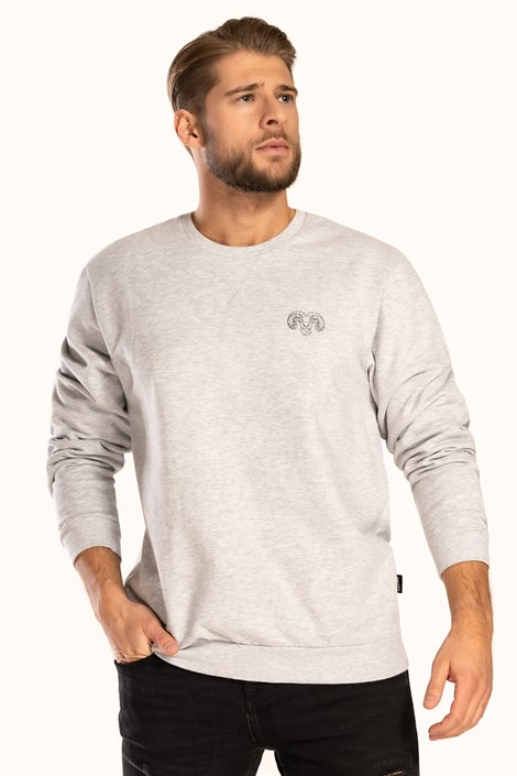 Γκρι βαμβακερή μπλούζα Pure Cotton