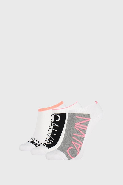 3 PACK γυναικείες κάλτσες Calvin Klein Nola λευκές