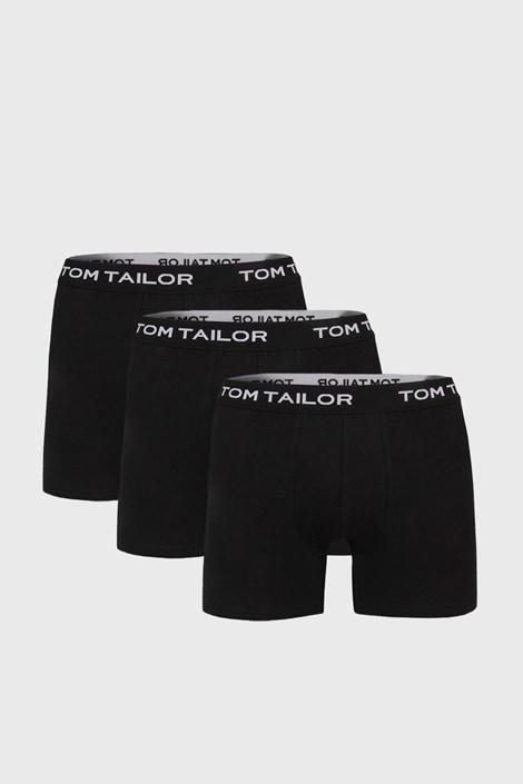 3 PACK μαύρο μακρύ μποξεράκι Tom Tailor