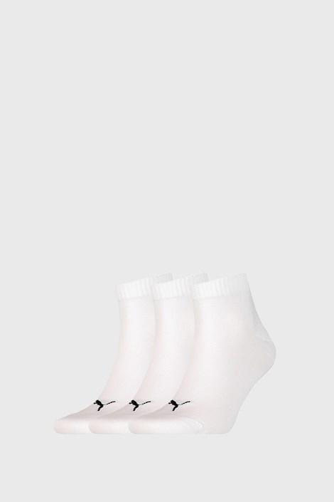 3 PACK άσπρες κάλτσες Puma Quarter Plain