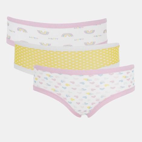 3 PACK σλιπάκια για κορίτσια Basic Cotton Rainbow