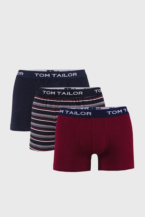3 PACK μπλε με κόκκινο μποξεράκι Tom Tailor