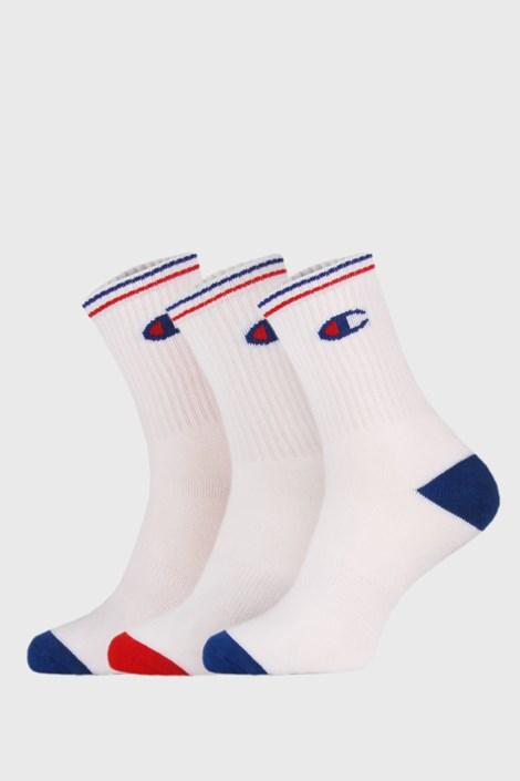 3 PACK λευκές ψηλές κάλτσες Champion Crew