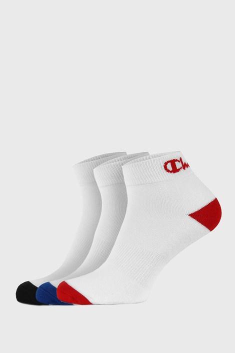 3 PACK άσπρες κάλτσες αστραγάλου Champion