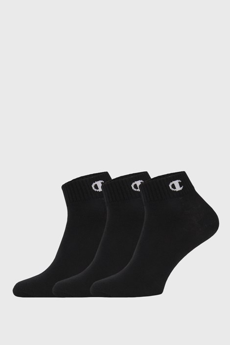 3 PACK μαύρες κάλτσες μέχρι αστράγαλο Champion