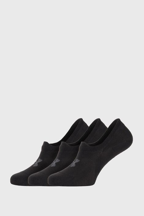 3 PACK κοντές κάλτσες Under Armour μαύρες