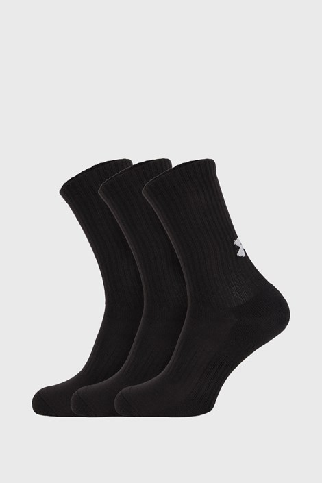 3 PACK ψηλές κάλτσες Core Under Armour μαύρες