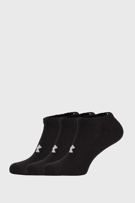 3 PACK κοντές κάλτσες Core Under Armour μαύρες