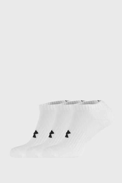 3 PACK κοντές κάλτσες Core Under Armour λευκές