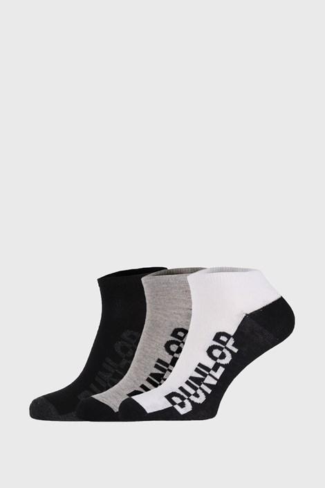 3 PACK μαύρες με γκρι κάλτσες Dunlop