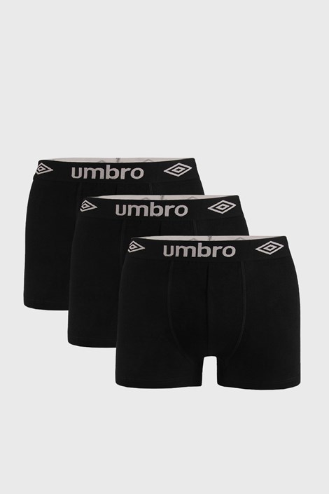 3 PACK μαύρο μποξεράκι Umbro Organic cotton