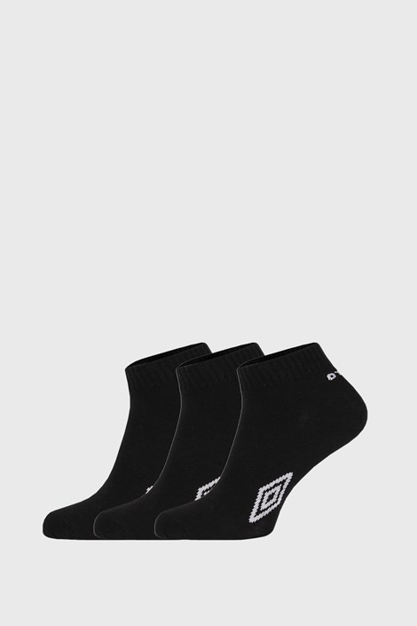 3 PACK μαύρες κάλτσες μέχρι τον αστράγαλο Umbro Ι