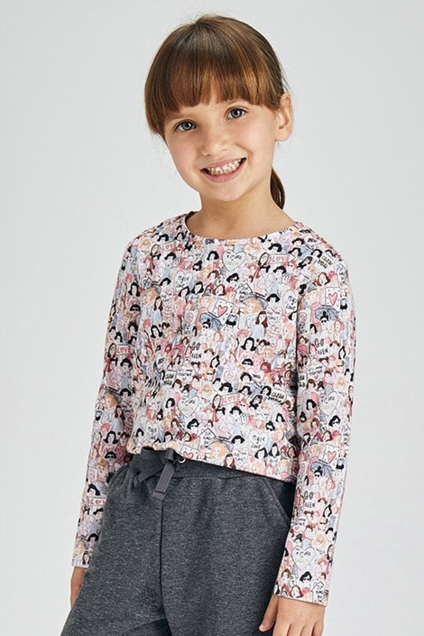 2 PACK μακρυμάνικες μπλούζες για κορίτσια Mayoral Love