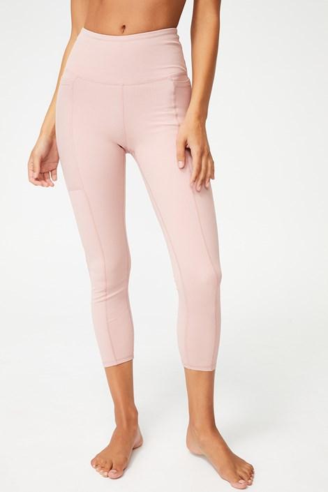 Αθλητικό κολάν Rib Pocket ροζ