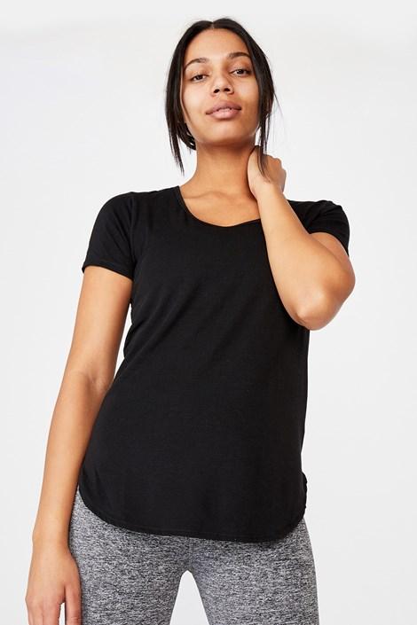 Αθλητική μπλούζα Gym μαύρη