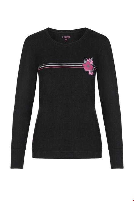 Γυναικείο μαύρο μπλουζάκι LOAP Adema