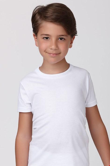 Βαμβακερό μπολουζάκι για αγόρια λευκό