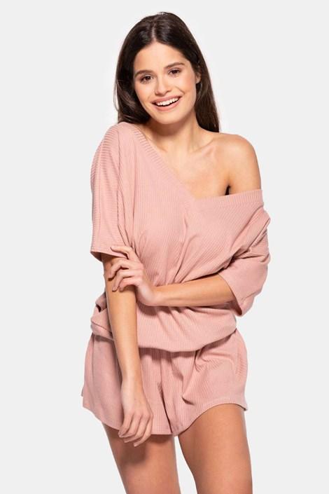Γυναικεία βαμβακερή πιτζάμα Rose κοντή