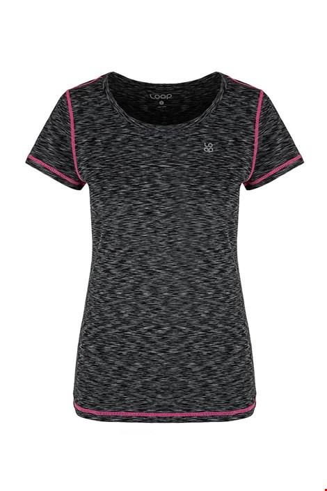 Γυναικείο μαύρο μπλουζάκι LOAP Madam