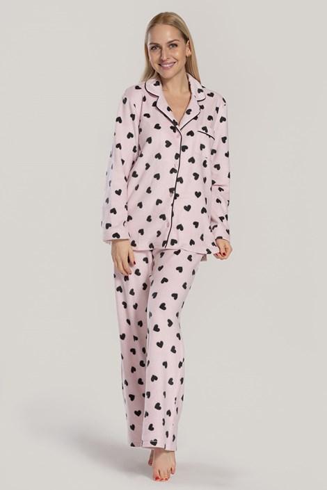 Γυναικεία πιτζάμα DKNY Festive Beast ροζ